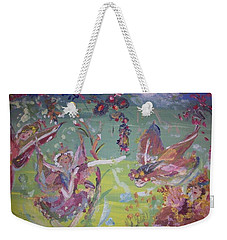 Fairy Ballet Weekender Tote Bag by Judith Desrosiers