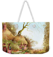 Fairy Chase Cottage Weekender Tote Bag