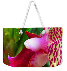 Weekender Tote Bag featuring the photograph Fairy Orchid by Cindy Greenstein