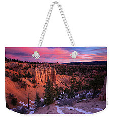 Weekender Tote Bag featuring the photograph Fairyland Loop Trail by Edgars Erglis