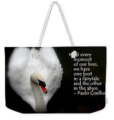 Weekender Tote Bag featuring the photograph Fairytale Swan by Lainie Wrightson