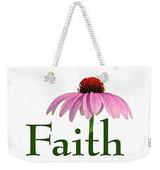 Faith Coneflower Shirt Weekender Tote Bag