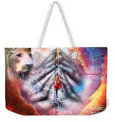 Weekender Tote Bag featuring the digital art Faith Filled Prayer by Dolores Develde