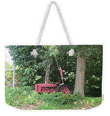 Faithful American Tractor Weekender Tote Bag by Jeanette Oberholtzer