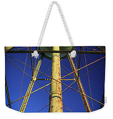 Weekender Tote Bag featuring the photograph Faithful Mary Leila Cotton Mill Water Tower Art by Reid Callaway