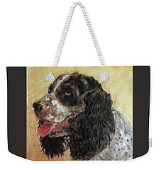 Faithful Spaniel Weekender Tote Bag