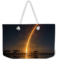 Falcon 9  Night Launch Weekender Tote Bag