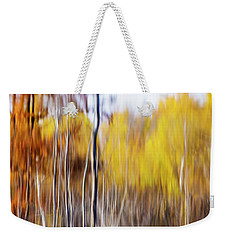 Weekender Tote Bag featuring the photograph Fall Abstract by Mircea Costina Photography