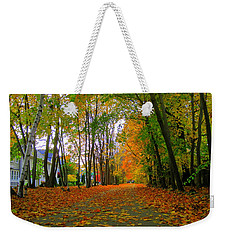 Fall Afternoon On The Rail Trail Weekender Tote Bag