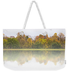 Weekender Tote Bag featuring the photograph Fall And Fog by Ben Shields