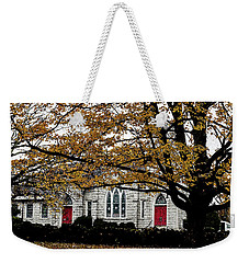 Fall At Church Weekender Tote Bag