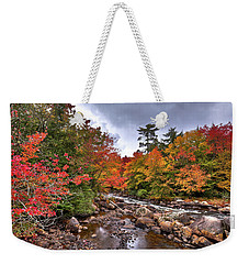 Weekender Tote Bag featuring the photograph Fall At Indian Rapids by David Patterson