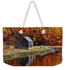 Fall At Rye Weekender Tote Bag