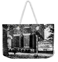 Fall At The Gold Museum In Black And White Weekender Tote Bag
