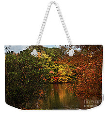 Fall At The Lake Weekender Tote Bag