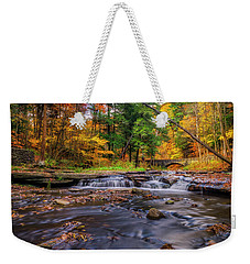 Fall At Wolf Creek Weekender Tote Bag