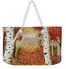 Fall Birch Trees Weekender Tote Bag