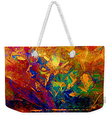 Weekender Tote Bag featuring the painting Fall Bouquet  by Lisa Kaiser