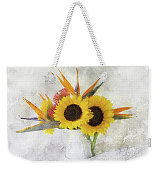 Weekender Tote Bag featuring the digital art Fall Bouquet by Sue Collura