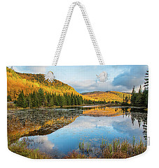 Fall By The Lake Weekender Tote Bag