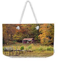 Fall Cabin Weekender Tote Bag