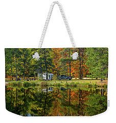 Fall Camping Weekender Tote Bag