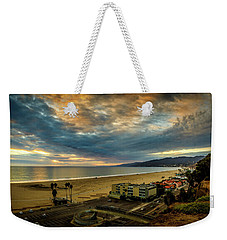 Fall Clouds Over The Bay Weekender Tote Bag