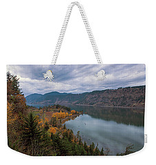 Fall Color At Ruthton Point In Hood River Oregon Weekender Tote Bag