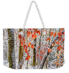 Fall Color Autumn Snow Weekender Tote Bag