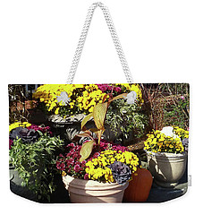 Weekender Tote Bag featuring the photograph Fall Colorful Gifts  by Irina Sztukowski