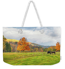 Weekender Tote Bag featuring the photograph Fall Colors After The Storm. by Jeff Folger