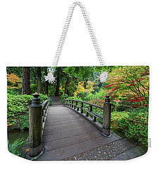 Fall Colors By The Foot Bridge Weekender Tote Bag by Jit Lim