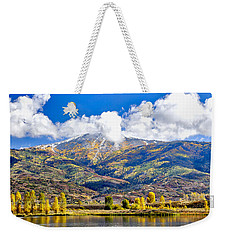 Fall Colors In Steamboat With A Lake. Weekender Tote Bag