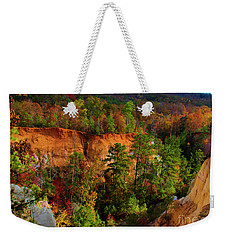 Weekender Tote Bag featuring the photograph Fall Colors In The Canyon by Barbara Bowen