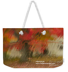 Fall Colors In The Rain Weekender Tote Bag