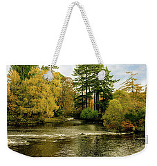 Fall Colour On The River Ness Islands Weekender Tote Bag