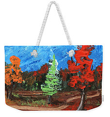 Weekender Tote Bag featuring the painting Fall Colours #2 by Anastasiya Malakhova