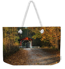 Weekender Tote Bag featuring the photograph Fall Covered Bridge by Dale Kincaid