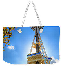 Fall Day At The Space Needle Weekender Tote Bag