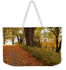 Fall Driveway Weekender Tote Bag by Lois Lepisto