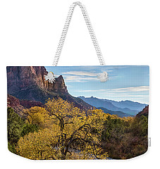 Fall Evening At Zion Weekender Tote Bag