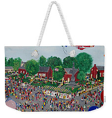 Weekender Tote Bag featuring the painting Fall Fair by Virginia Coyle