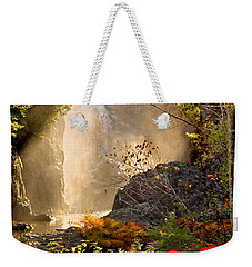 Fall Falls Mist  Dead River Falls  Marquette Mi Weekender Tote Bag by Michael Bessler