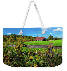Fall Farm Weekender Tote Bag by Rebecca Hiatt