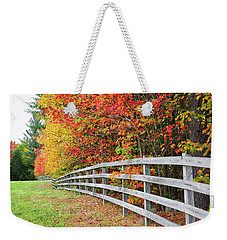 Fall Fence Weekender Tote Bag
