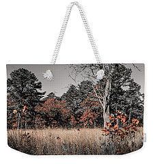 Weekender Tote Bag featuring the photograph Fall Field Fun by Glenn DiPaola
