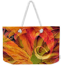Weekender Tote Bag featuring the photograph Fall Floral Composite by Janice Drew