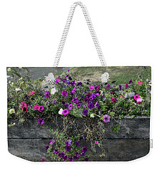Weekender Tote Bag featuring the photograph Fall Flower Box by Joanne Coyle