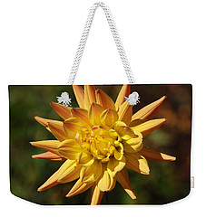 Weekender Tote Bag featuring the photograph Fall Flower by Richard Bryce and Family