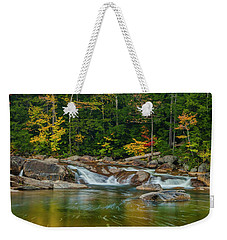 Fall Foliage In Autumn Along Swift River In New Hampshire Weekender Tote Bag by Ranjay Mitra